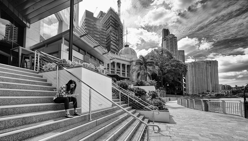 Late Back From Lunch, Brisbane City, Queensland, Australia