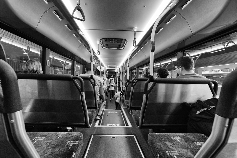 Moving Down The Bus, Brisbane City, Queensland, Australia