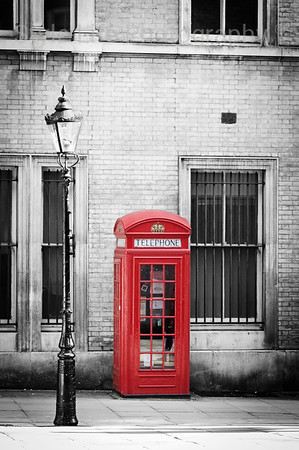 Iconic Red Phonebox, Covent Garden, London, UK