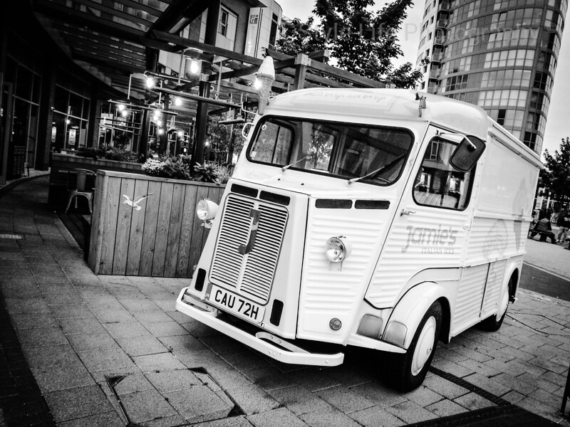 Quirky Little Ice Cream Truck, Gunwharf Quays, Portsmouth, UK