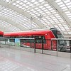 Beijing Subway Line 17 ABC (Airport Beijing City) departing Beijing Capital International Airport Terminal 3 Station for Terminal 2 station and onto central Beijing