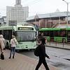 Minsktrans Belkamunmash BKM-333 Trolleybus, No. 2623 (s/n 163) & Minksi Automobilni Zavod MAZ-203 Bus, No. 038806
