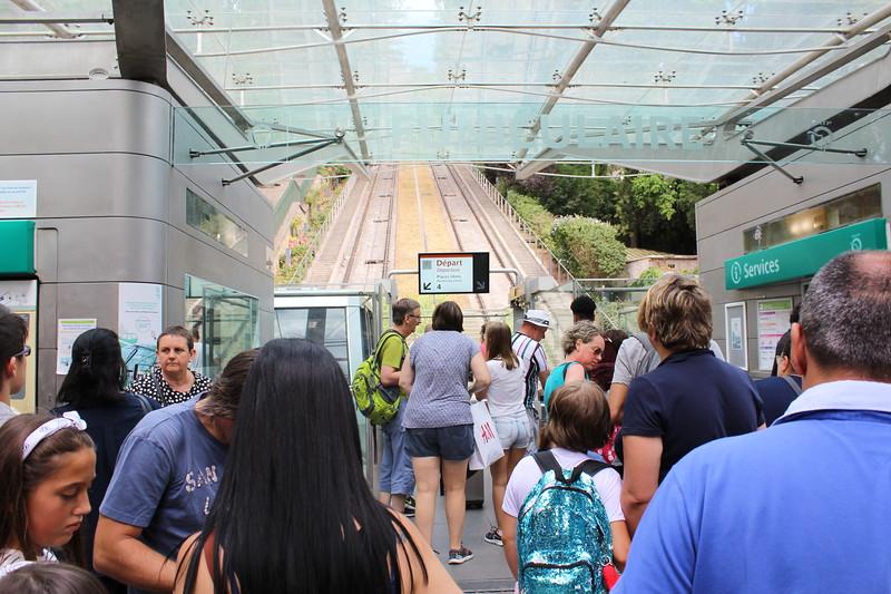 RATP Butte Montmartre Funicular Station Paris