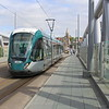 Nottingham Express Transit (NET) Tram No. 232 arriving Nottingham Station