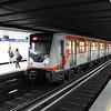STC NM.02 Metro train No. M.0664 at Revolucion station, Metro Line M2, Mexico City