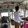 Inside Volvo 7300 bi-articulated No.1086-B – CDMX Metrobus BRT, Mexico City