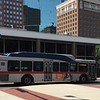 FWTA (Fort Worth Transportation Authority) Gillig Low Floor Bus No. 1147 in downtown Fort Worth