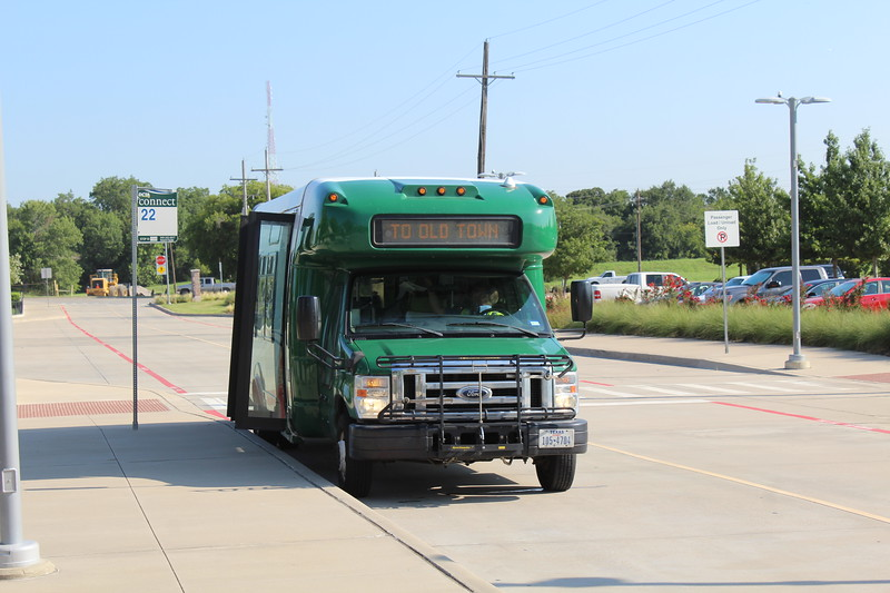 Denton County Transportation Authority (DCTA) Ford E450 Shuttle Bus at Lewisville Old Town Station