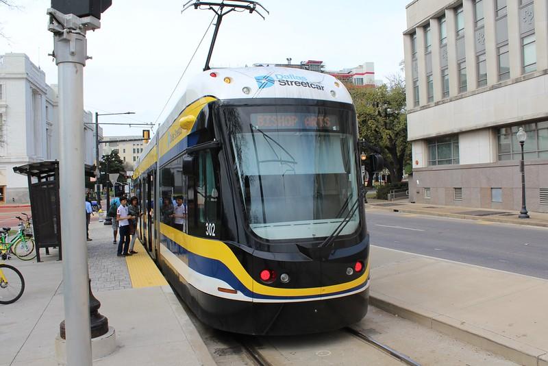 DART (Dallas Area Rapid Transit) Dallas Streetcar BEC Liberty Car No. 302 at Dallas Union Station Terminus