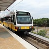 DART (Dallas Area Rapid Transit) Kinki Sharyo Super Light Rail Vehicle (SLRV) No. 155 at Inwood/Love Field Metro Station