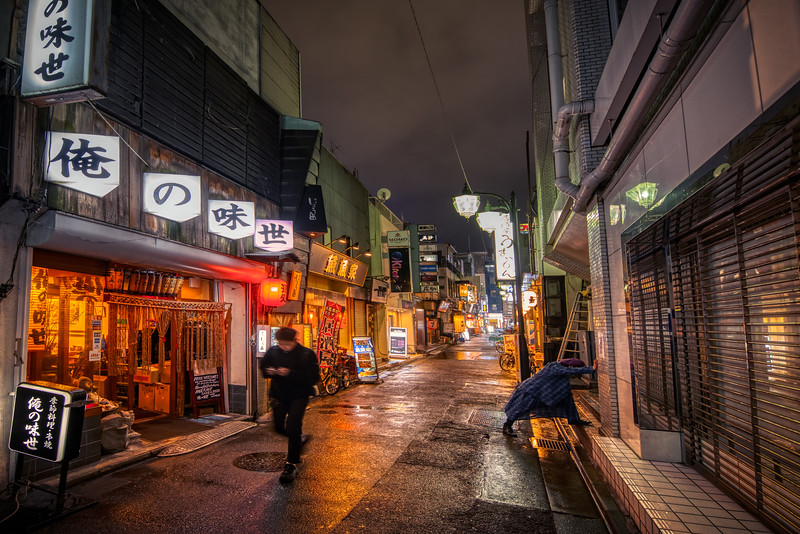 A Stretch at Night in Tokyo