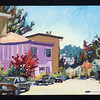 "San Francisco, purple house, 2005, 9x12"", oil on panel"