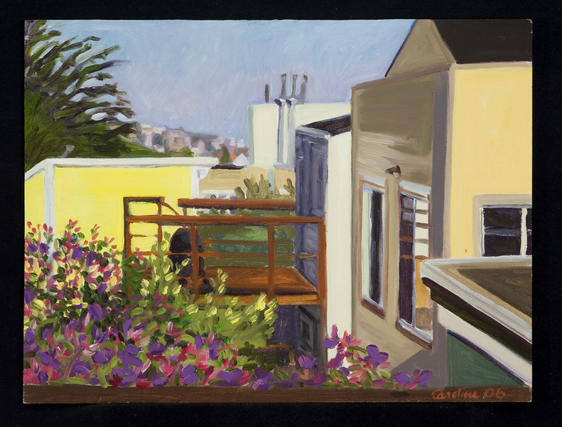 "San Francisco, 2006, 10x12"", oil on panel"