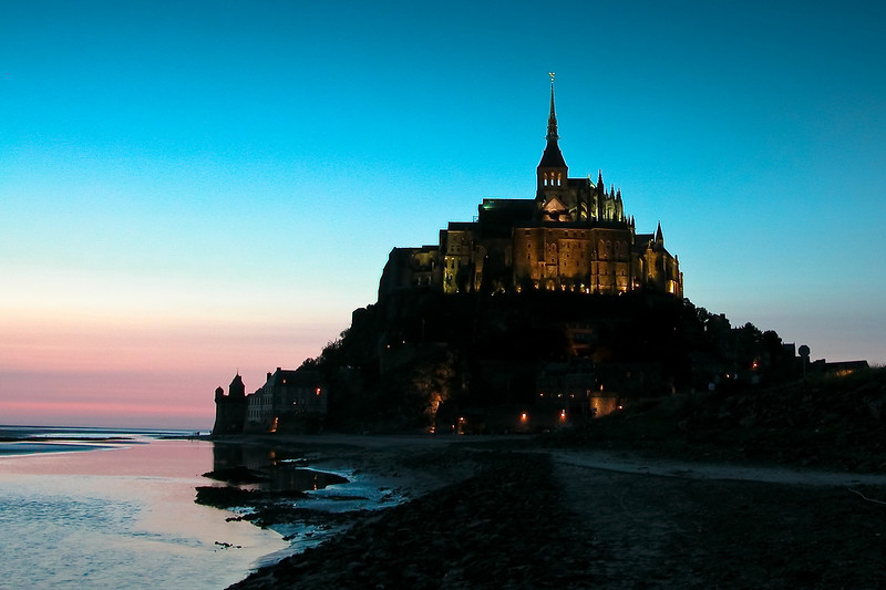 Mont Saint-Michel, Normandie, France.