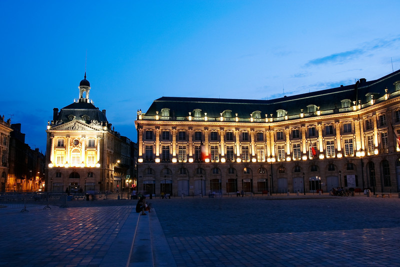 Place de la Bourse, Bordeaux, France.