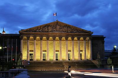 Bourbon palace in Paris, France, October 2004.