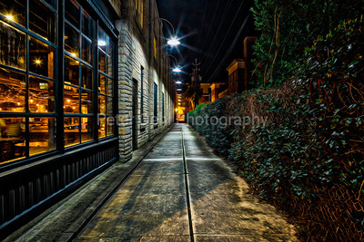 Alley in downtown Wilmington, NC