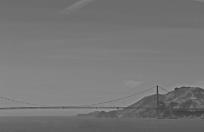 Golden Gate Bridge (b+w)