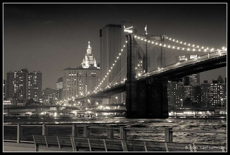 The Brooklyn Bridge at Night