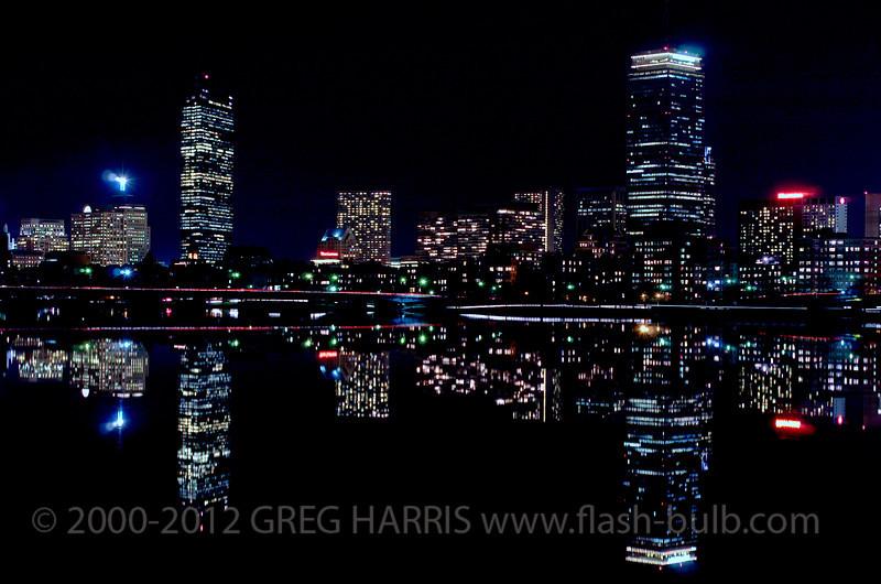 """Glassy Charles River""<br /> <br /> Nikon D2H + 45mm f2.8P Nikkor - 10sec @ f8 @ ASA200 + tripod,  Cambridge, MA, USA, 03-30-2005"