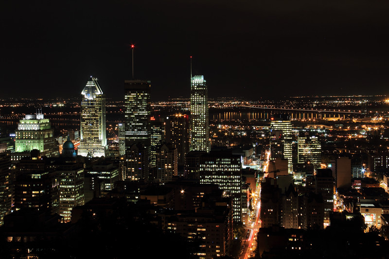 Montreal City at Night