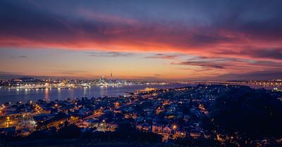 Twilight over Auckland