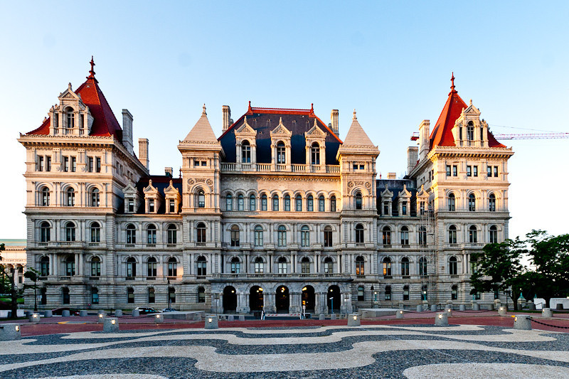 NYS Capitol Building at Sunset.