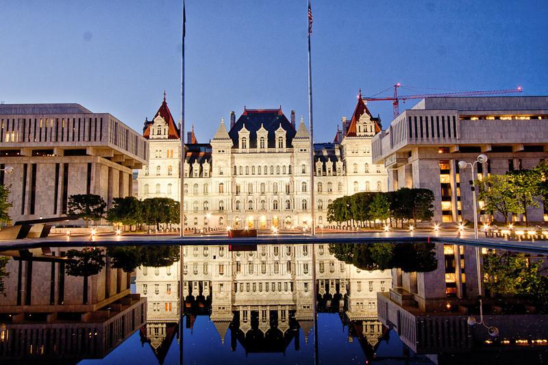 The NYS Capitol at Night.