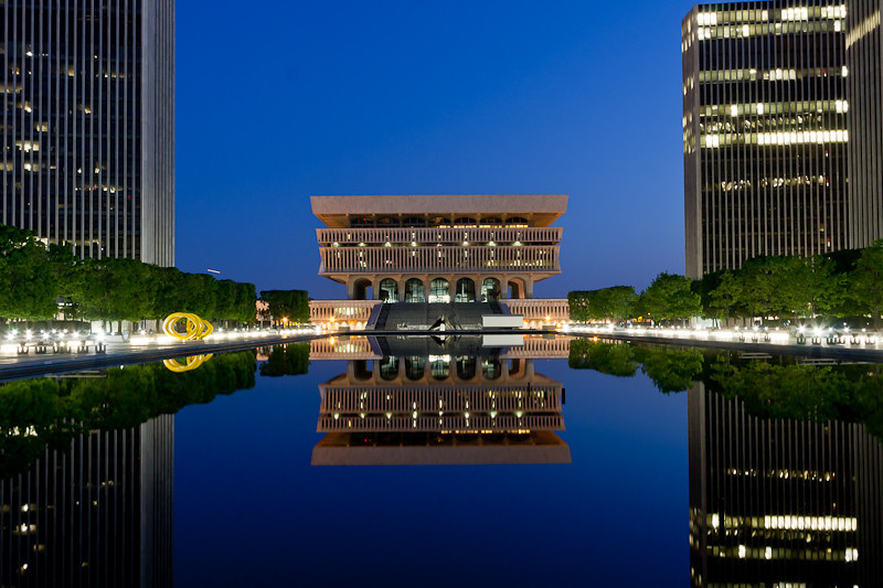 The NYS Cultural Building at Night (darker version).