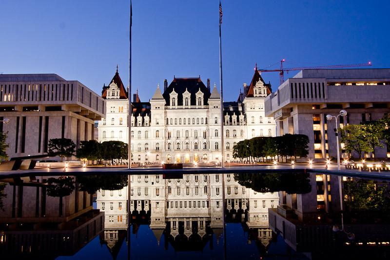 NYS Capitol at Night.