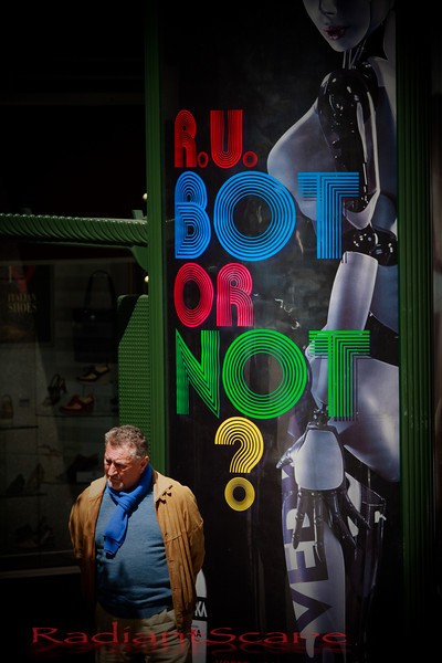 Are we bots in the rat race? Stockton street, San Francisco