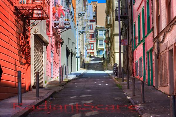North Beach alleys, San Francisco