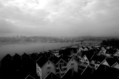 View from Stavanger City Bridge