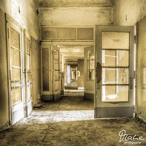 corridor in an old villa