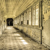 corridor in an old villa