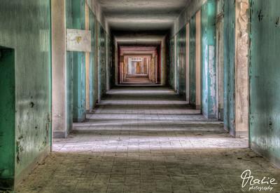 corridor of an old hospital