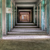 corridor of an old hospital