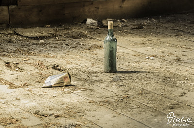 lonely bottle in the attic