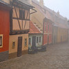Czech Republic, Prague. Little Golden Street bathed in morning fog II.<br /> Petr Bednarik (c) 2014. All rights reserved.