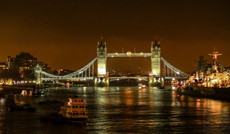 Tower Bridge at night - London, UK