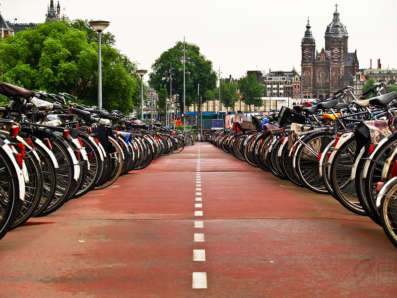 Bike Park in Amsterdam - Netherlands