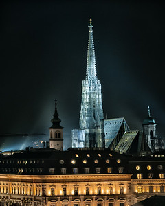 St Stephen's Cathedral Vienna at night