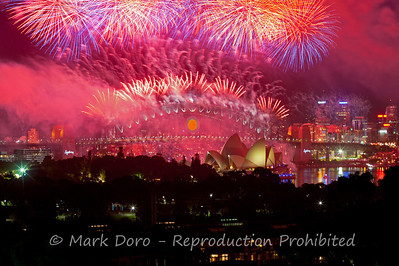 New Years Eve fireworks, Sydney