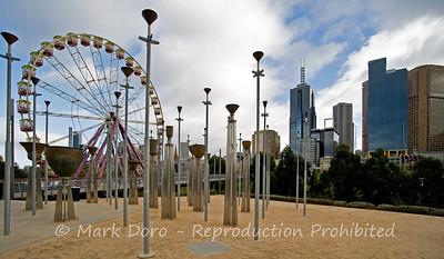 Sculpture & Ferris Wheel, Birrarung Marr, Melbourne, Victoria