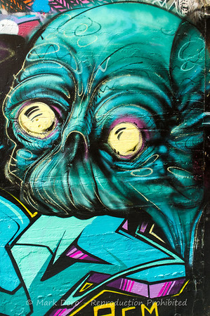 Eating, Melbourne CBD wall detail