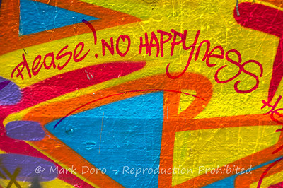 Please! No Happyness, Melbourne CBD wall detail