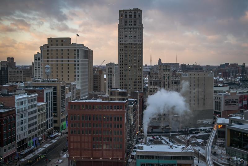 Soft Sunset In Detroit
