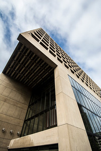 The Wells Fargo Building in downtown Lincoln, Nebraska was designed by famed architect I.M. Pei in 1974.