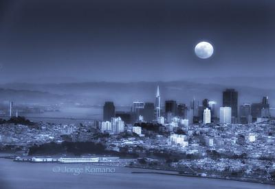 Full Moon over San Francisco.