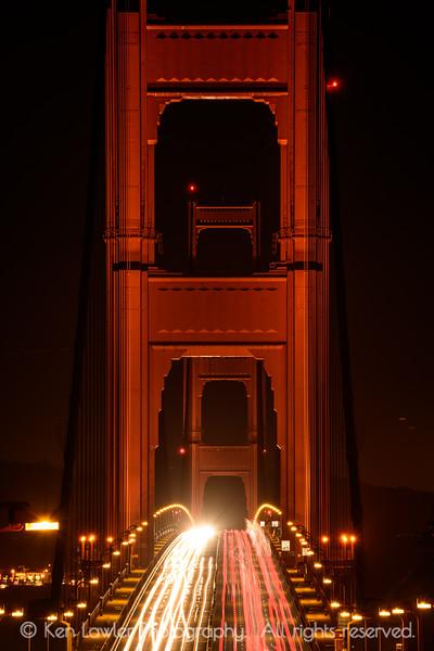 Golden Gate night crossing